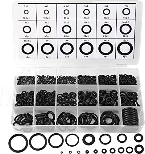 2021 770pcs Rubber O Ring Assortment Kits 18 Sizes Sealing Gasket Washers Made of Nitrile new arrival Rubber NBR by HongWay for outlet online sale Car Auto Vehicle Repair, Professional Plumbing, Air or Gas Connections outlet sale