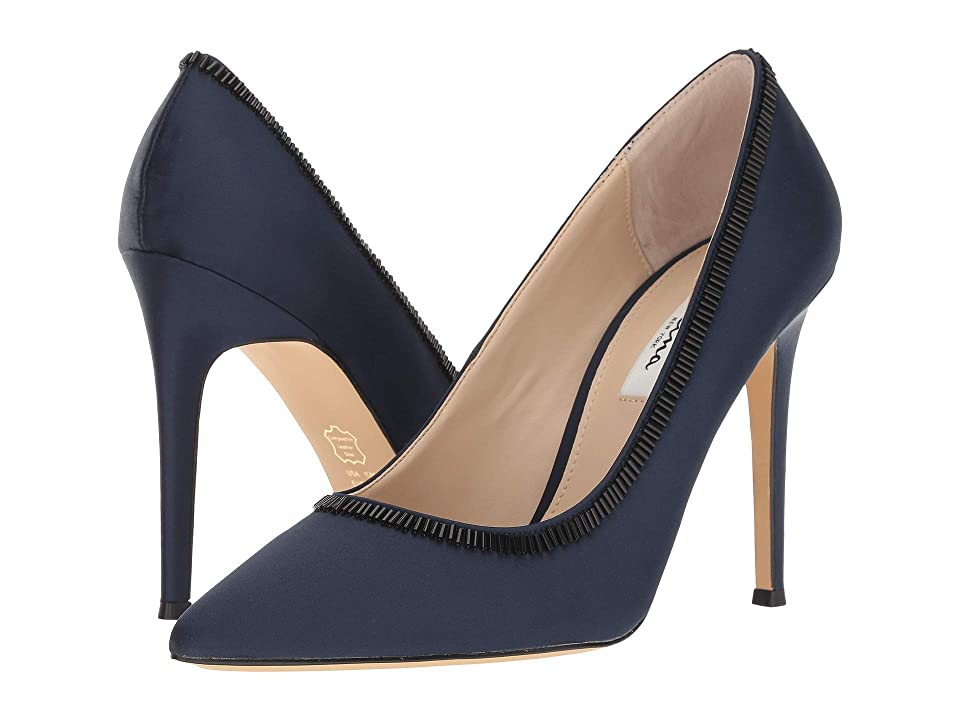 Nina Deedra (New Navy Satin) High Heels