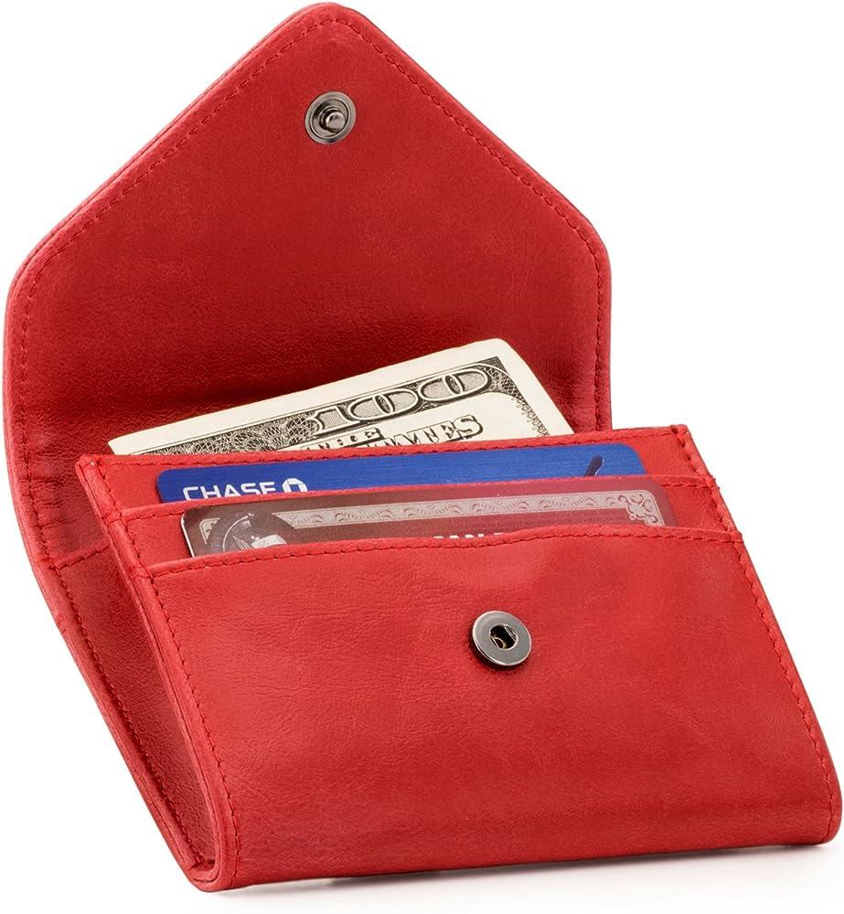 Otto angelino, portafoglio in ecopelle, con porta monete e porta carte di credito, unisex, blocco anti rfid OTTO167