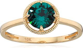 10k gold birthstone rings