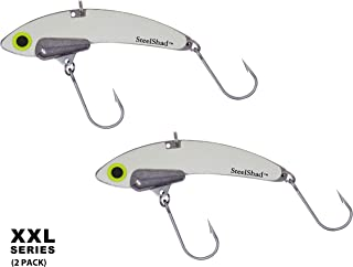 SteelShad - XXL 2 Pack - Striper Fishing Lures - Lipless Crankbait for Saltwater and Freshwater Fishing - Long Casting Blade Bait Perfect for Striper, Musky, Salmon