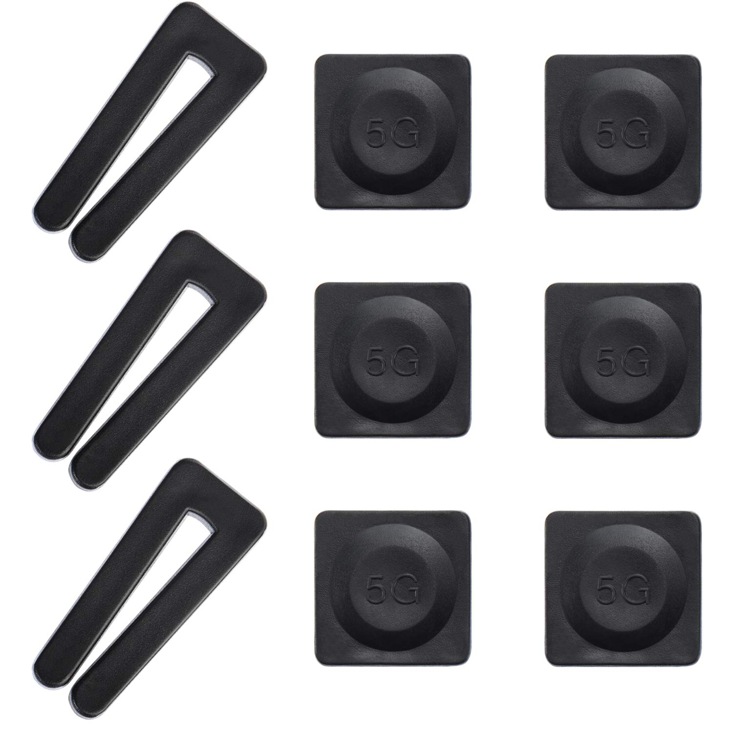 Canomo 3 Set Ceiling Fan Blade Balancing Kit Include 3 Pieces Plastic Balancing Clips and 6 Pieces Self-adhesive 5G Balancing Weights