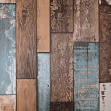 Hode Papel Pintado Vinilos Decorativos Espesar Autoadhesivo Efecto Madera, Papel Adhesivo para Muebles,45X200cm, Impermeable Fácil de Limpiar