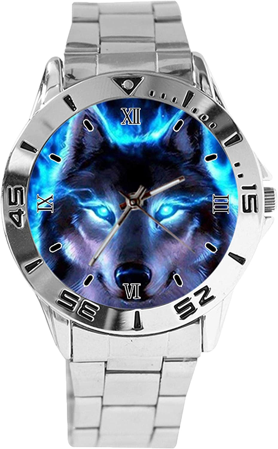 Wolf Design Analog Wrist Watch New sales Classic Dial Silver Bombing free shipping Stainl Quartz
