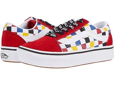 Vans Kids ComfyCush Old Skool (Little Kid) ((Checkerboard) Multi/Black) Boys Shoes