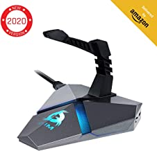 KLIM Mouse Bungee - RGB Extension for Mouse - 3 x Additional USB 3.0 Hub - Gaming Mice Cord Holder - MultiFunctional Cable Management - Wired Backlit Cords Organiser - Perfect Control for Gamer PC PS4