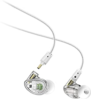 MEE audio - MX1 PRO Dynamic Driver, Customisible, Noise-Isolating, Universal-Fit Modular Musician's in-Ear Monitors with Detachable Cables - Clear