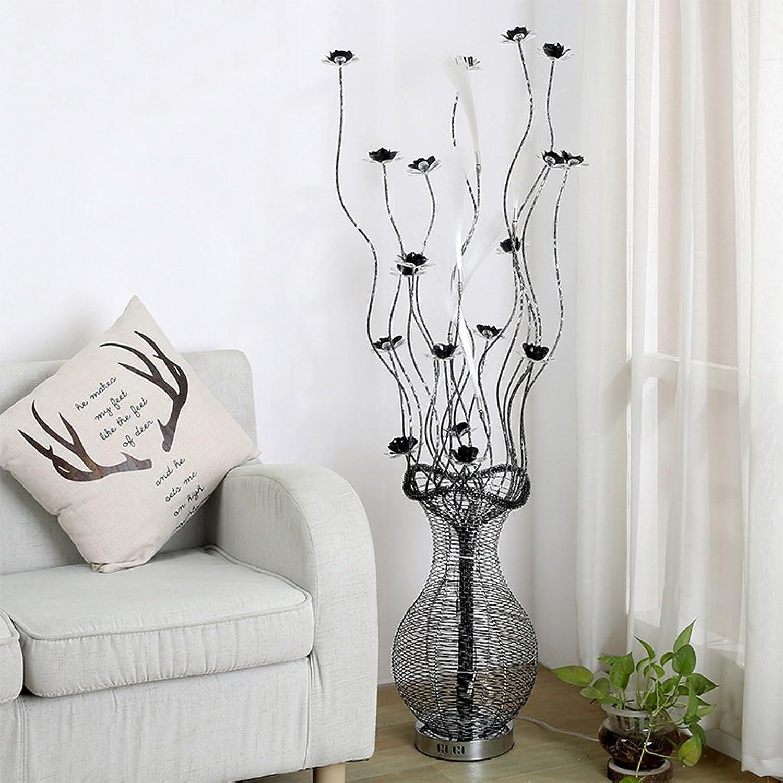 LILY ノルディック花瓶ファイバーフロアランプ、クリエイティブシンプルなアルミランプ、ヨーロッパスタイルのリビングルームベッドルームスタディラム