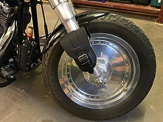 ORLETANOS Brillenetui schwarz kompatibel mit Gürteltasche Leder Zusatztasche Satteltasche Tasche Rahmen kleine Tasche Orletanos Black Gürteltasche Harley Davidson HD Sportster Fatboy Softail Fahrrad