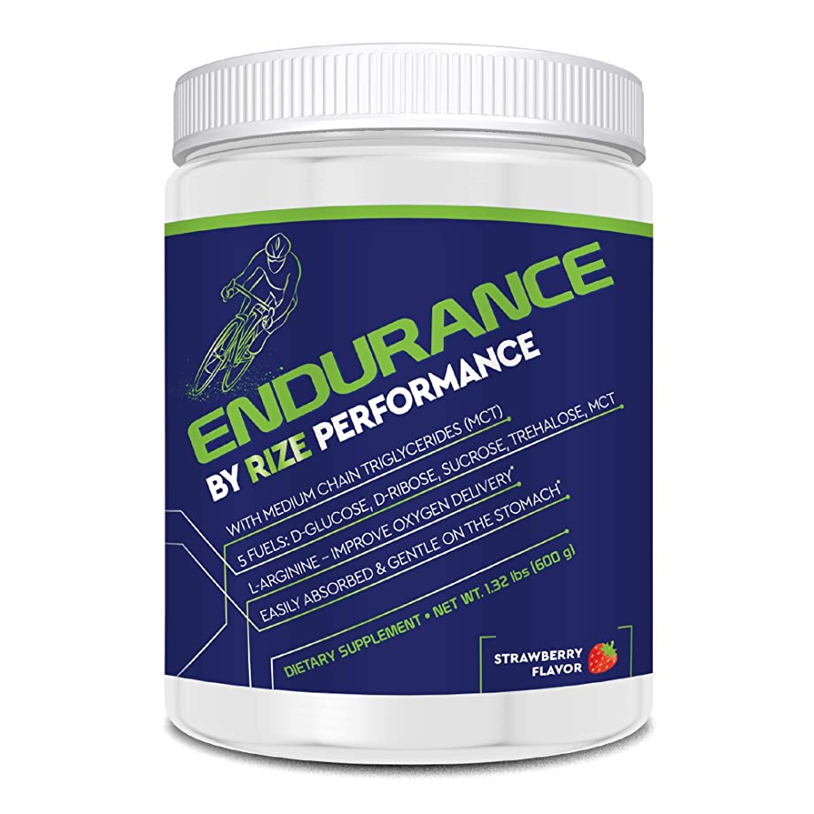 Rize Cycling Drink Endurance Athlete Energy Drink Mix - Doctor Formulated, Nutritional Endurance Fuel Powder, Strawberry 1.32 Pounds