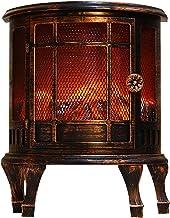 ERZU Chimenea carbón fuego lámpara cuenca decoración de Navidad escena decoración ventana diseño decoración hogar, cable de alimentación USB y pilas