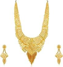 Apara Gold Plated One Gram Rani Haar Earring Jewellery Pary Wear Necklace Set for Women