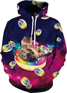 bb7a0106 Leapparel Men 3D Printed Hoodies Pullover Funny Graphic Animal Sweatshirts  Fleece Hoody