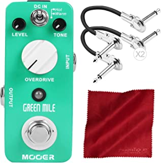 Mooer Green Mile Overdrive with Cables and Microfiber Cloth