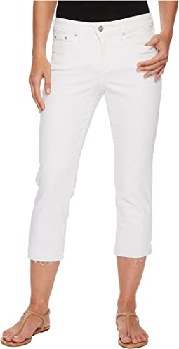 Capris w/ Released Hem in Optic White