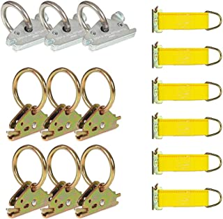DC Cargo Mall E Track Tie-Down Kit - 15 Pieces: E-Track Accessories | Includes O-Rings & Rope Tie-Offs (E-Track Rails NOT ...