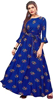 New Ethnic 4 You Women's Anarkali Maxi Gown