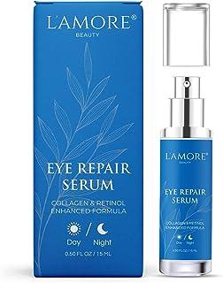 Eye Repair Serum,15 ml - Anti Aging Eye Cream with Retinol and Hyaluronic Acid, Daily Anti Wrinkle Collagen Eye Gel, Under Eye Treatment For Bags, Puffy Eyes, Dark Spots, Crow's Feet - Made In USA