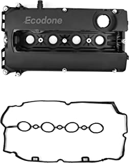 Engine Valve Cover Camshaft Rocker Cover,Bolts & 2Gaskets for Chevrolet Cruze Aveo TraxOrlando by Ecodone,Part No.55564395 55558673