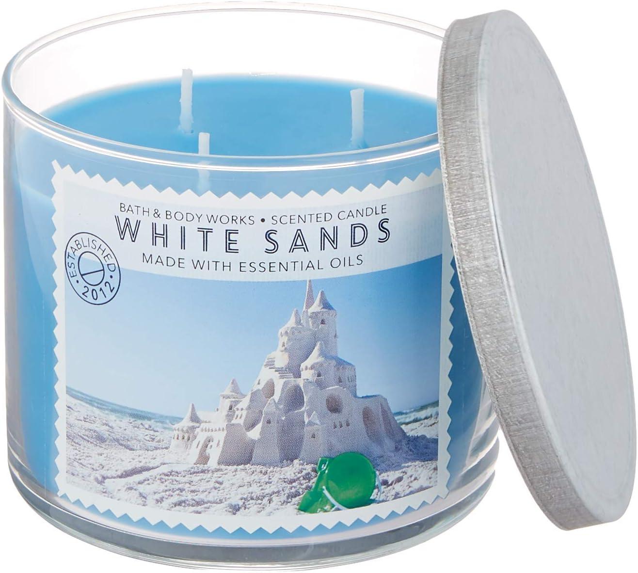 Bath and 全国どこでも送料無料 国内在庫 Body Works White Barn Ou Wick Sands Candle 3 14.5