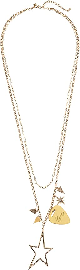 Rebecca Minkoff - Guitar Pick Charm Cluster Necklace