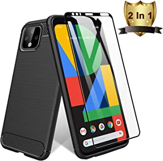 [Screen Protector with Case] TopACE for Google Pixel 4 XL Screen Protector with Built-in Google Pixel 4XL Case with Replacement Warranty (Black)