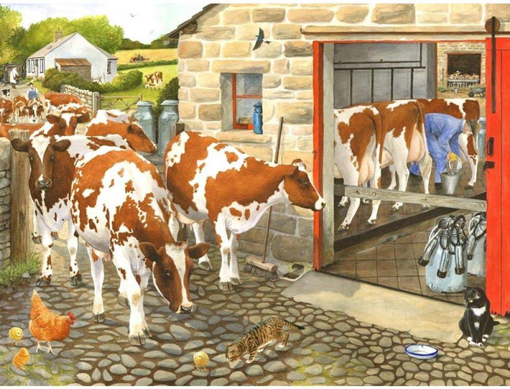 DIY Sale special price Superlatite 5D Diamond Painting Farm Cow Anima Drill Stitch Mosaic Cross