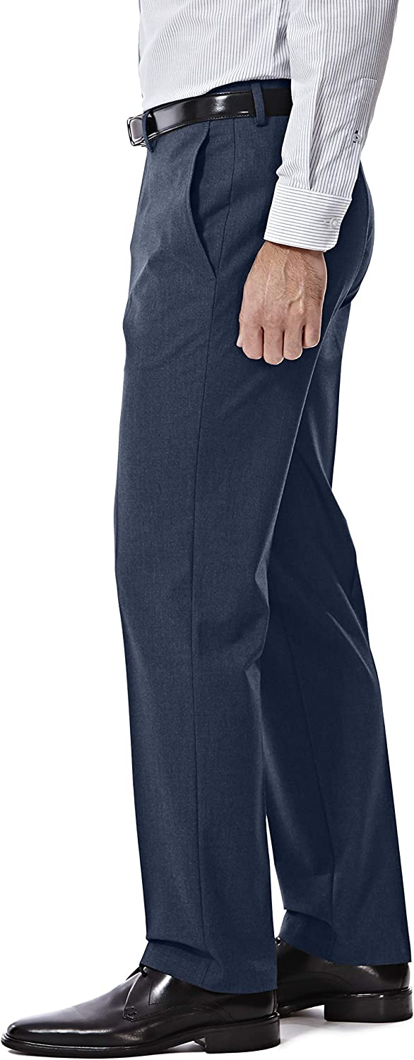 J.M. Haggar 4-Way Stretch Solid 2-Button Slim Fit Suit Separate Coat, Blue, 38L with Separate Pant, Blue, 32Wx32L