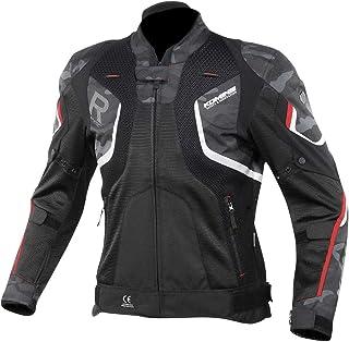 コミネ(KOMINE) バイク用 Rスペックメッシュジャケット ブラックカモ/レッド L JK-143 12952 メッシュ素材 プロテクター CE規格