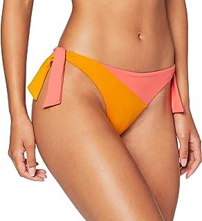 women'secret Donna Slip Bikini Brasiliano, con Lacci Laterali ed Effetto Color Block Not Applicable, Viola E Lilla, S