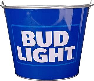 Beer Brand Full Color Aluminum Beer Bucket(Bud Light (Light Blue Logo))