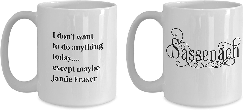 Jamie Fraser Outlander Coffee Tea Whiskey Mug Image wraps around cup Sam Heughan