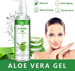 Gel de Aloe Vera 100% Puro250 ML Aloe Vera Crema NaturalGel Hidratante para CaraCabello y CuerpoIdeal para el AcnéPie...