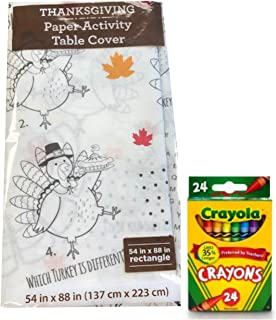 Best thanksgiving coloring tablecloth Reviews