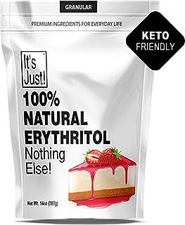 It's Just - 100% Erythritol, Non-GMO, Natural Sweetener, Keto Friendly, Non-Glycemic, Sugar Free (Granular, 14oz)