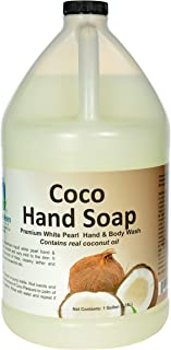 Simply Kleen USA Premium Simply Coco White Pearl Liquid Hand, Body Soap, Contains Real Coconut Oil, 1 gallon