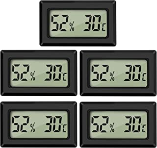 Thlevel LCD digital termometer hygrometer temperatur luftfuktighetsmätare termometer för växthus, bilar, hem, kontor (5 st)