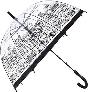 HAOCOO Street Clear Umbrella,Bubble Transparent Fashion Dome Auto Open Umbrella Windproof for Outdoor Weddings