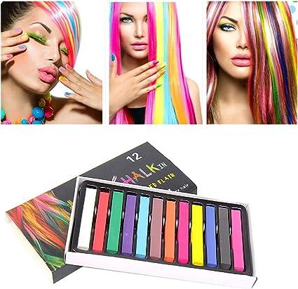 Juego de tizas para el cabello, colores vibrantes, temporales ...