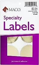 MACO Gold Foil Notarial Seals, 2-1/4 Inches in Diameter, 32 Per Box (OS-721)