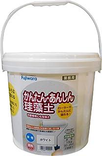 フジワラ化学 内装調湿性仕上塗材 かんたんあんしん珪藻土 ホワイト 10kg