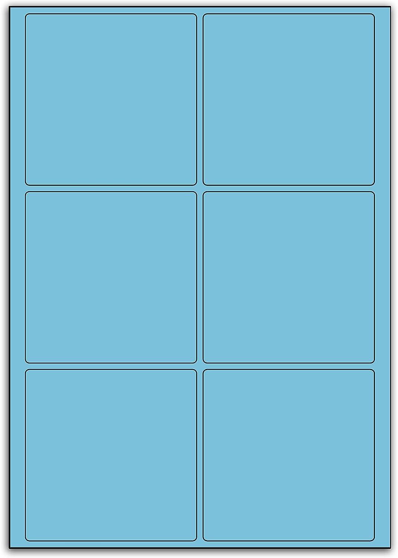 Multi Purpose Blau Square Labels - - - 6 Labels Per Sheet - 100 Sheets 95mm x 95mm B00BXE6T9I  | Moderne Muster  23058c