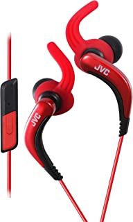 HA-ETR40R Sports Earphones with Remote and Microphone - Red