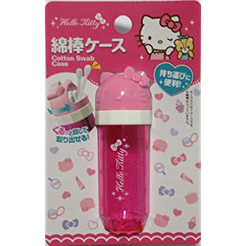 Holder Sanrio Hello Kitty Kawaii Pink Portable Travel Cotton Swab Case Cute