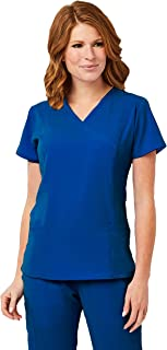 Image Scrub Top IM1110 Women's 3-Panel Mock Wrap | Perfect for Medical, Dental, Veterinary and O.R.