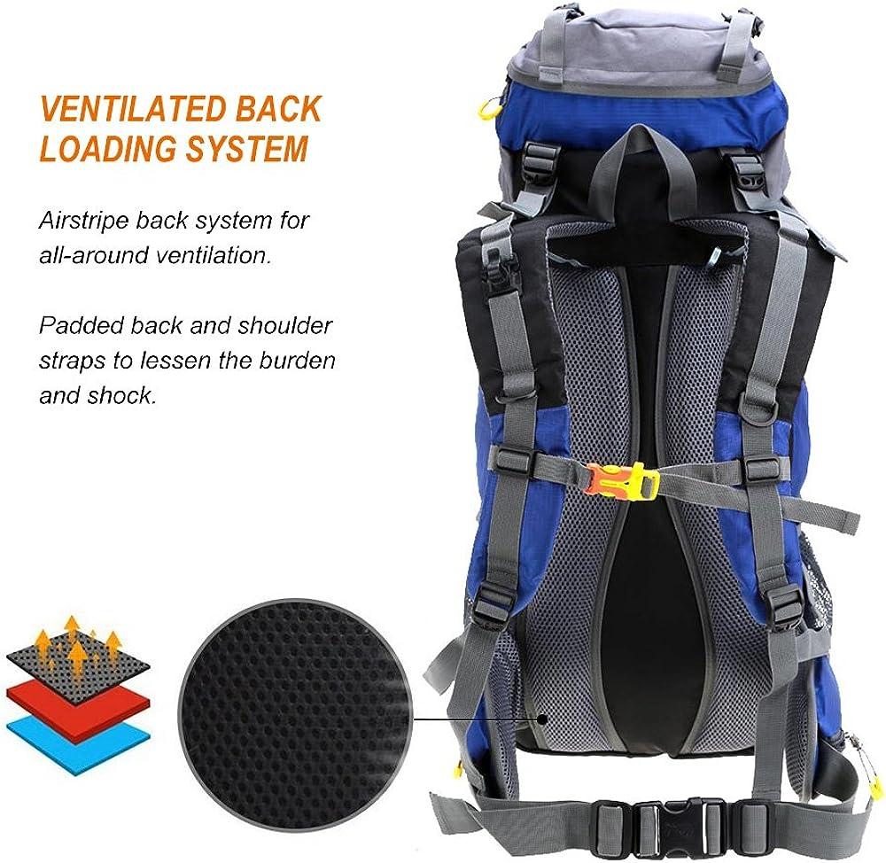 Lixada Trekkingrucksack Wanderrucksack Reiserucksack Rucksack 50L//60L Wasserabweisend mit Regen Abdeckung