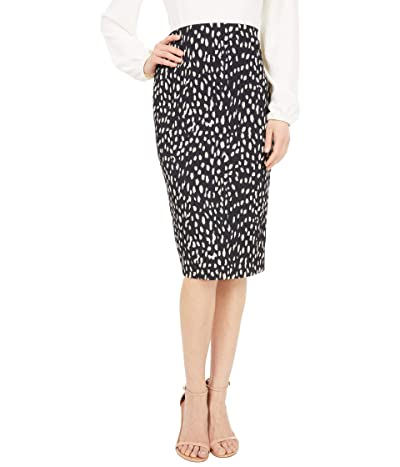 Vince Camuto Animal Textured Knit Pencil Skirt (Rich Black) Women
