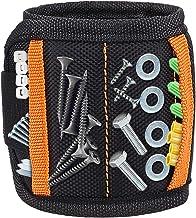 Wristband Magnético, DIAOCARE Pulsera Magnética con 15 Súper Imanes,2 Bolsillos Pequeños Velcro Ajustable Tornillos Magnéticos de Pulsera para Sujetar Herramientas Pequeñas,Tornillos,Taladros,Clavos