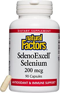 Natural Factors - SelenoExcell Selenium 200mcg, Antioxidant & Immune Support, 90 Capsules