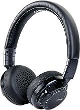 AUKEY Cuffie Bluetooth Wireless On Ear, Dual 40 mm driver con bassi sella, 18 ore di gioco, microfono e ingresso audio da 3,5 mm, custodia per il trasporto, trasporto senza affaticamento